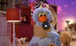 Still uit een voorleesfilmpje van Sesam Straat